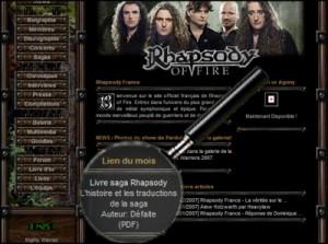Rhapsody France me publie !