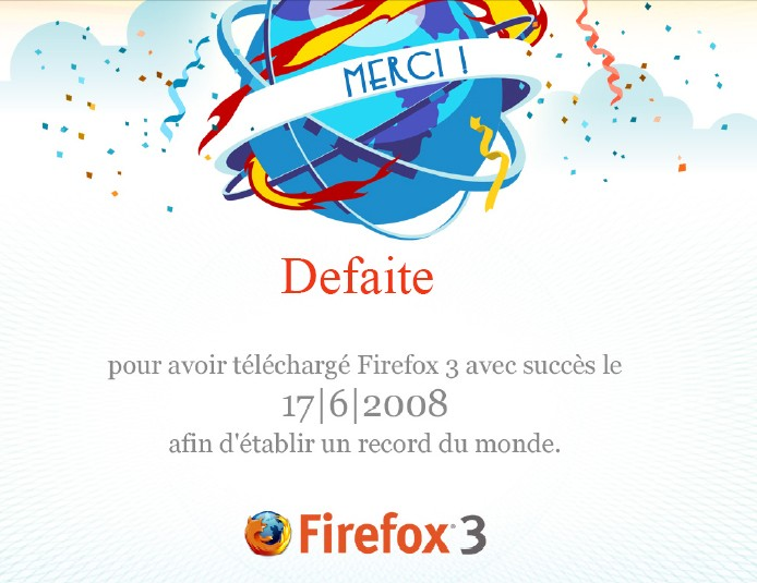 FireFox 3 – Record établi !