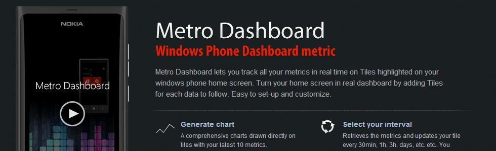 Metro dashboard