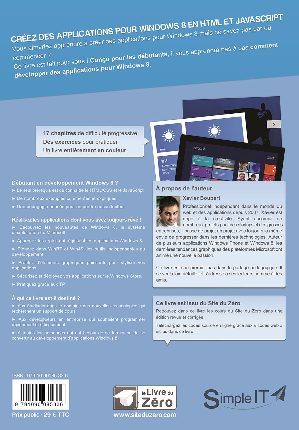 Livre cr ez des applications pour windows 8 en html et - Open office en francais pour windows 8 ...